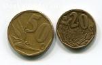 Монеты ЮАР 20 и 50 центов