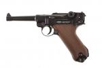 """Пневматический пистолет """"Gletcher P-08"""" с наплечной кобурой."""